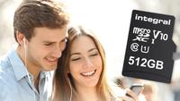 Una tarjeta microSD de 512 GB