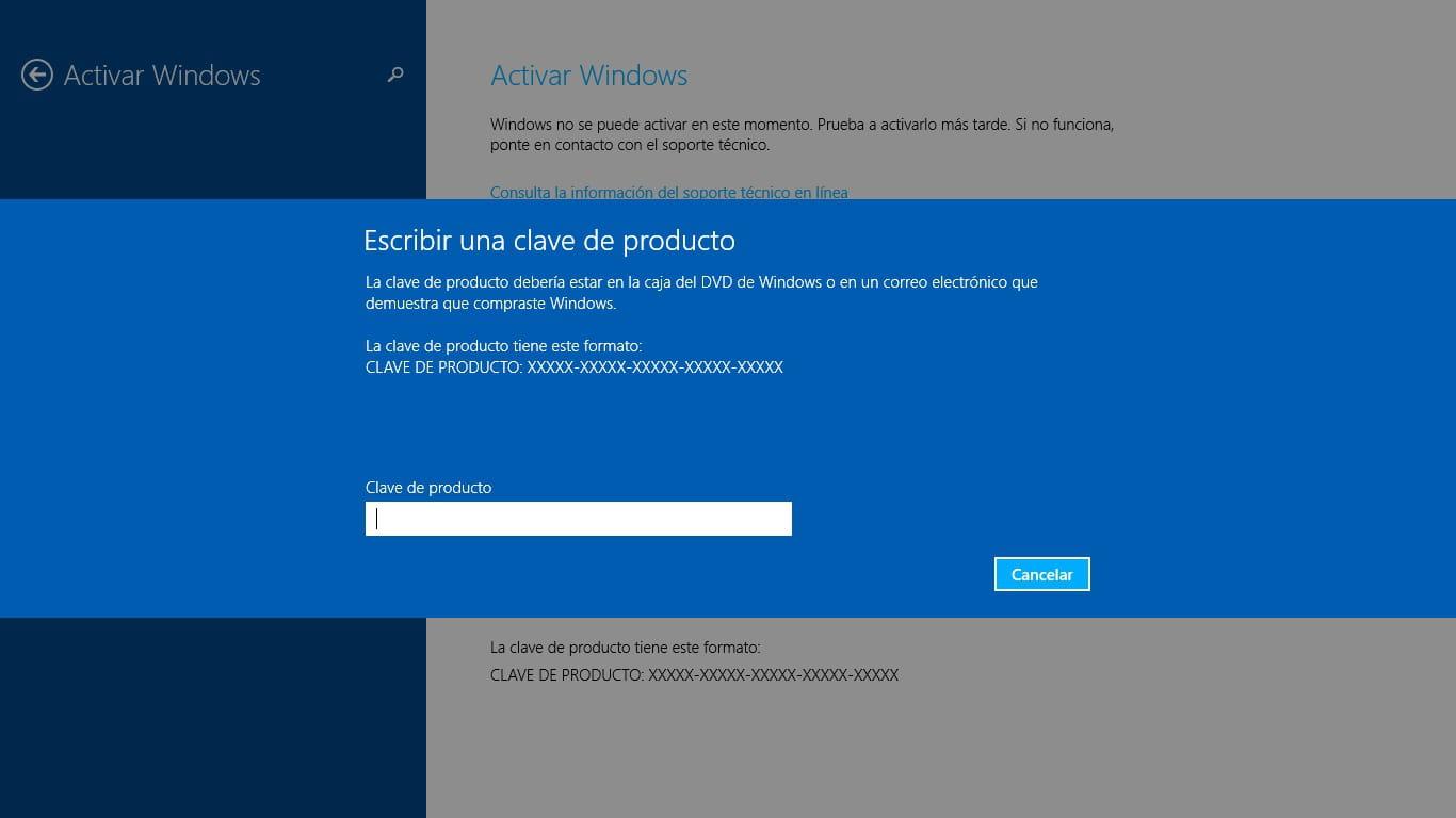 clave de producto para activar windows 8.1 pro