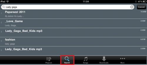 Descargar música de Internet gratis desde el iPad
