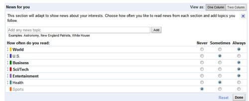 Configurar Google News para mostrar noticias de tu interés
