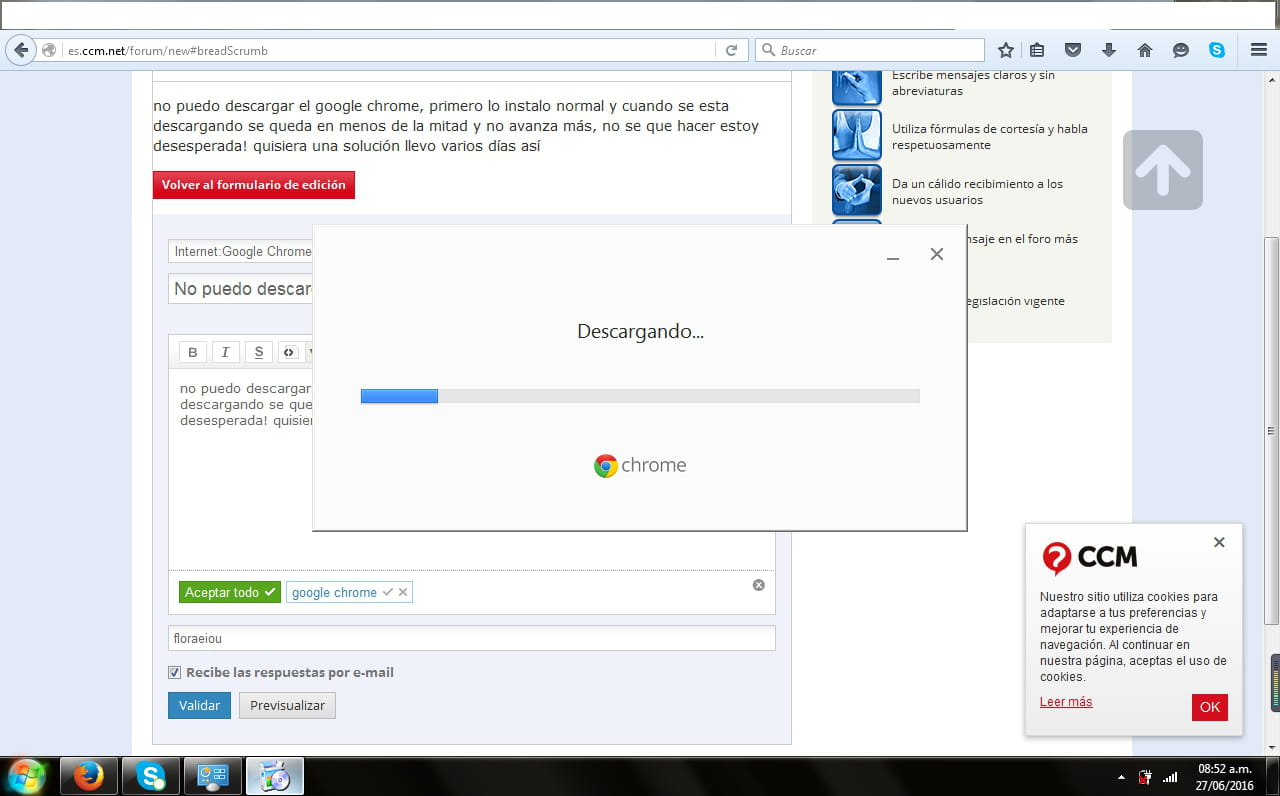 No puedo descargar google chrome - Foro Chrome