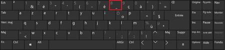 Poner guión bajo en teclado francés