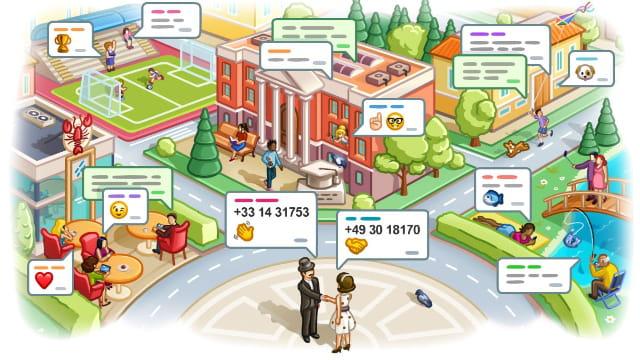 Agregar contactos en Telegram por geolocalización
