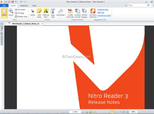 Descargar Nitro PDF Reader (64 bits) gratis - Última versión