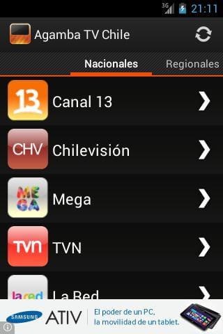 Descargar Agamba Tv Chile Para Android Gratis última Versión En