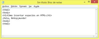 Como Insertar Espacios En Html - Espacio-en-blanco-html