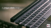 LG presenta un teclado enrollable