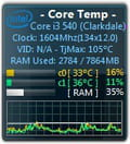 Core temp gadget windows 10