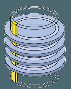 Cilindros de un disco rígido