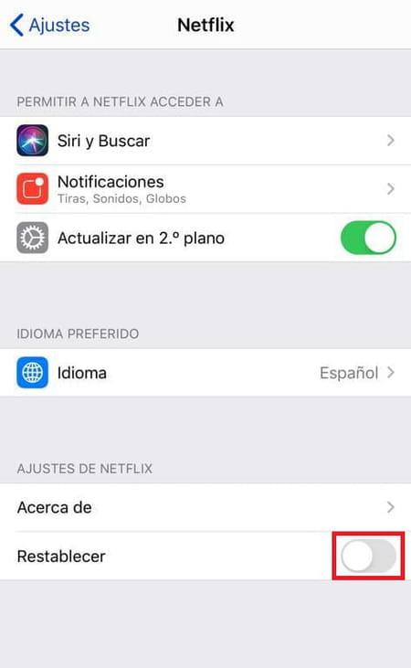solucionar errores de Netflix en iPhone