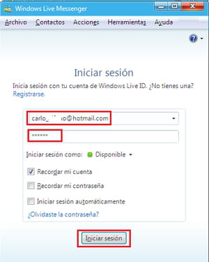 windows live messenger cómo chatear por messenger