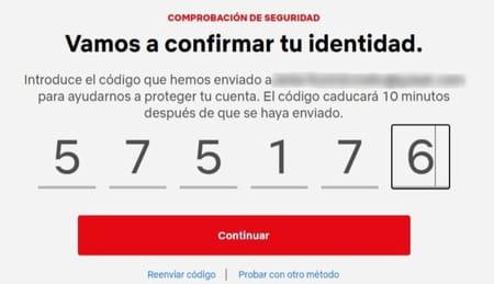 Netflix cambiar correo