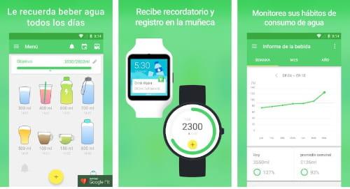 Las 4 mejores Apps para recordar  beber agua