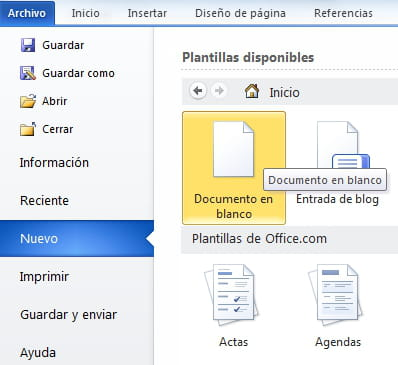 Word crear un nuevo documento for En word cual es el interlineado