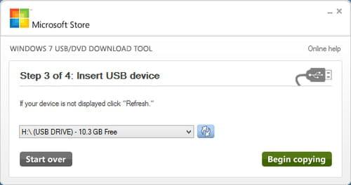 Windows 7 USB DVD
