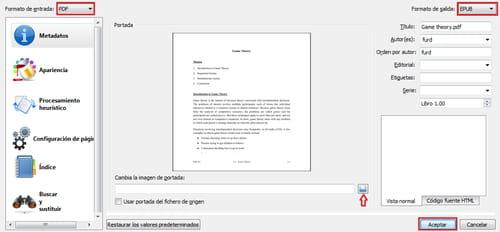 pasar de pdf a epub