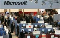 El stand de Microsoft en la feria comercial CeBIT