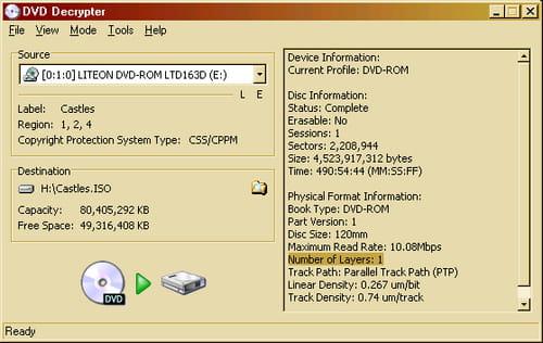 Descargar DVDdecrypter gratis - Última versión en español en CCM