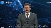 El presentador de noticias virtual