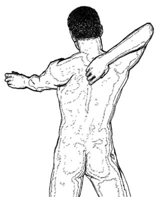 Y presión en entre los omóplatos la espalda dolor