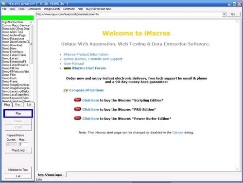 Descargar iMacros gratis - Última versión en español en CCM